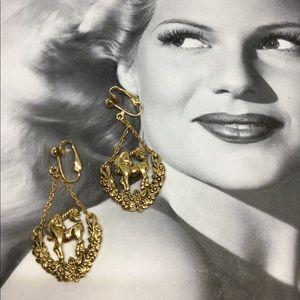 Vintage Unicorn Earrings